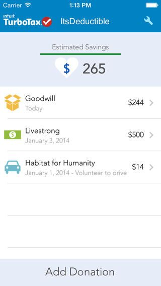 ItsDeductible Donation Tracker – Maximize your charitable donation tax deductions by Intuit Inc.