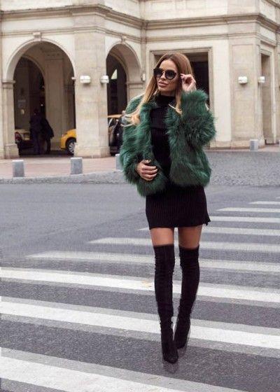 Haina blana crina verde faux fur, autumn, winter, 2016, fashion, fashionista, ootd, outfit, fur, outfitoftheday,shopping, fall, glam streetstyle, green