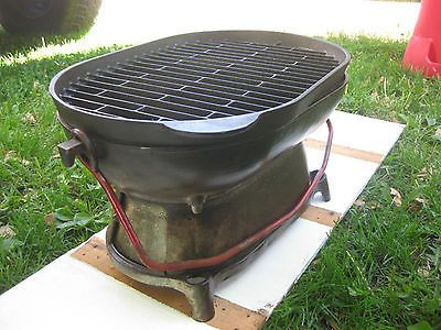 Antique Columbus Iron Works Rare Cast Iron BBQ Grill   Ready To Grill 2 Door