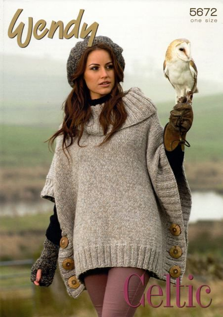 poncho with sleeves knitting pattern - Google keresés