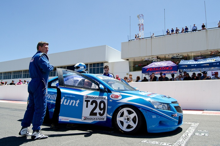 The current Williams Hunt Chevrolet Cruze racing machine ready for action at Kyalami Raceway
