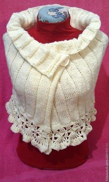 Схема вязания накидки на свадебное платье
