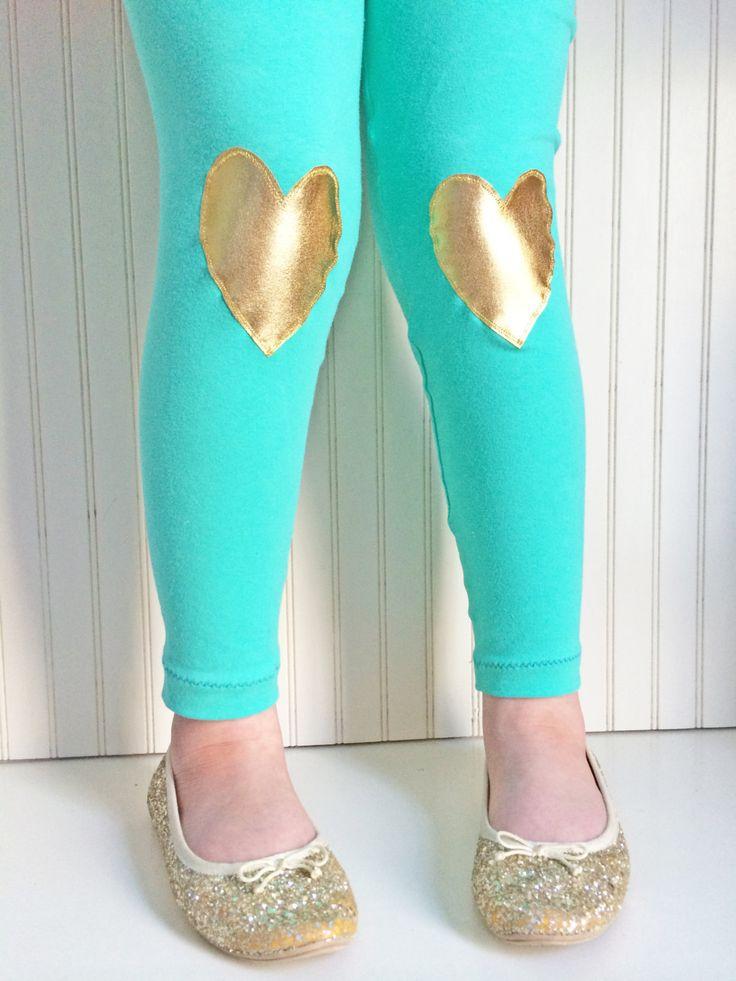 Heart Leggings in Gold Mint Leggings Mint and Gold Tights Girls Leggings sizes 2 3T, 4 5, 6 7, 8, 10 by thetrendytot on Etsy https://www.etsy.com/listing/220934665/heart-leggings-in-gold-mint-leggings