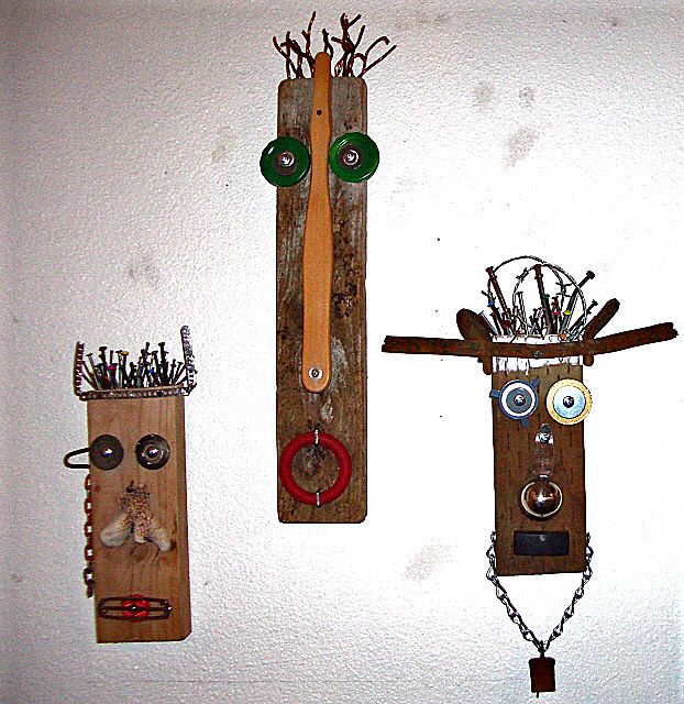 long and thin african masks history | recycled artists | Olympia Dumpster Divers