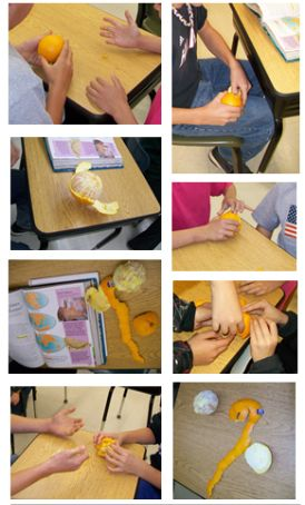Earth Science Experiment FUN! Use oranges to model how making a map of the Earth is difficult since the Earth is round.