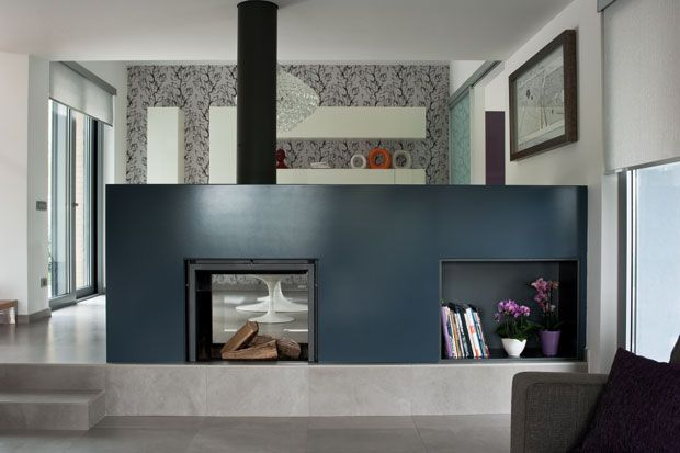 Stuv 21 double face modern fireplace