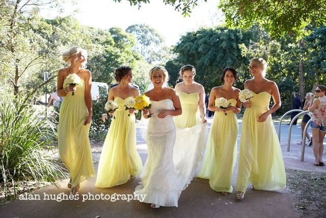 Wedding prettiness comes in many different forms, and sometimes in an interesting colour palette. I am totally loving sickthe colour combination in this wedding. Tones of yellow and blue-grey work in the most splendid way for a wedding colour theme. The pretty bright yellow flowers, lemon bridesmaid dresses, matched with the groom and groomsmens' suits go together like peas and carrots, and create a perfect mix of feminine and masculine. The yellow and blue wedding theme works perfectly for…