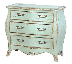 Mint distressed drawer. One of our projects for the new home. Turn our old antique furniture into mints and whites for the living room