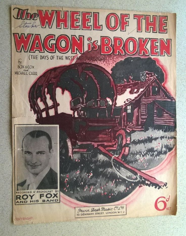 1935 Ukulele and Piano Sheet Music - THE WHEEL  OF THE WAGON IS BROKEN