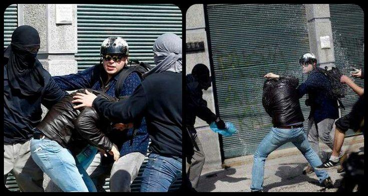 Chile: Golpean y le rocían bencina a periodista durante marcha por la memoria.