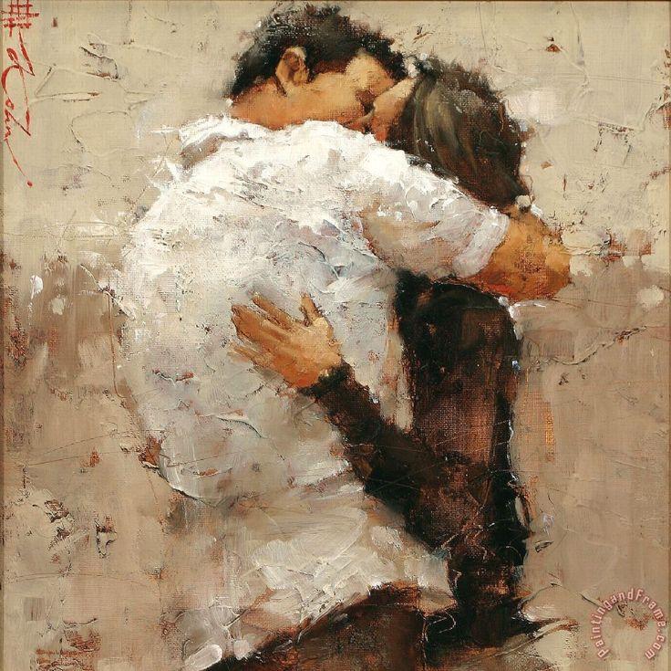 El beso: la ardiente plegaria que sangran mis labios. Andre Kohn