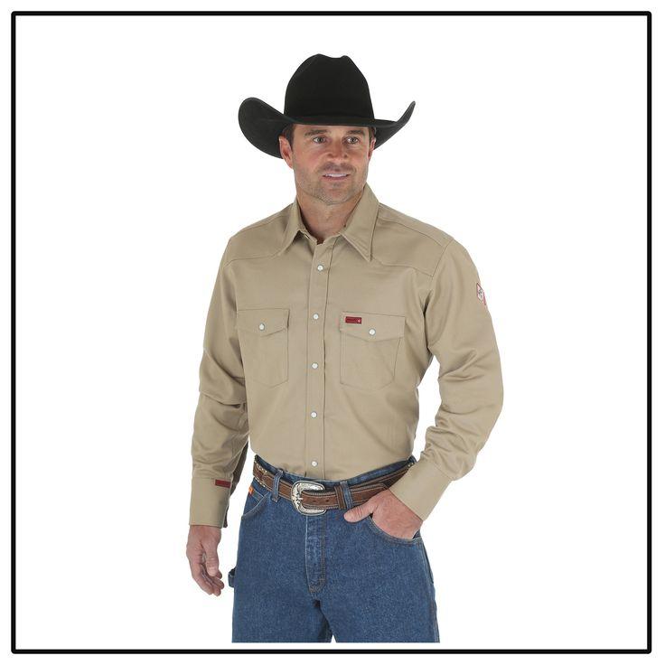 Wrangler FR Khaki Shirt - FR12140