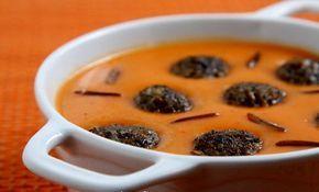 Crema di peperoni rossi con riso selvatico