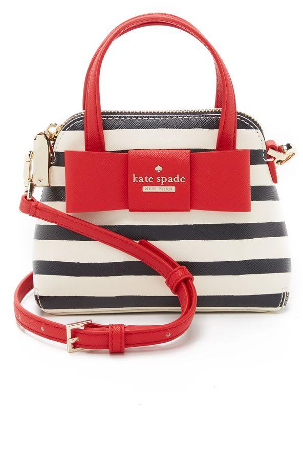 Kate Spade New York Striped Mini Maise Cross Body Bag    <>   @kimludcom