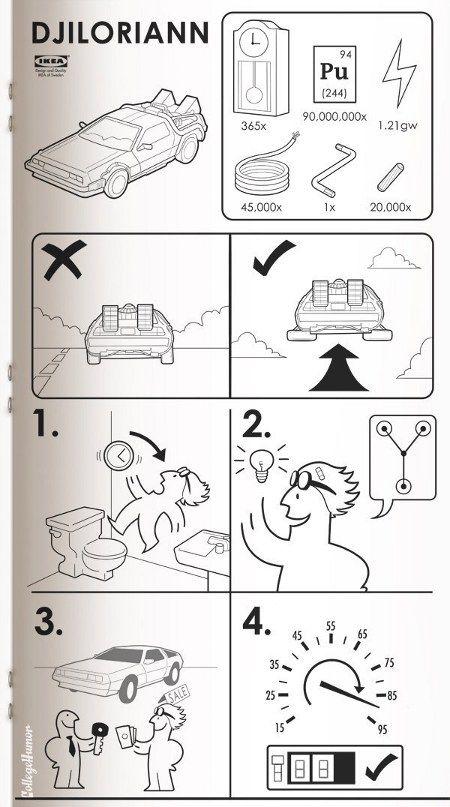 Back to the future #ikea manual #funny