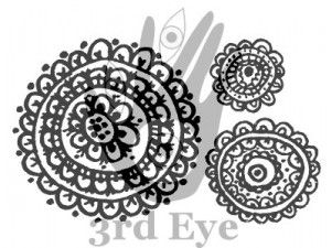 funky flowers stamp from 3rd Eye <3 http://3rdEyeCraft.com