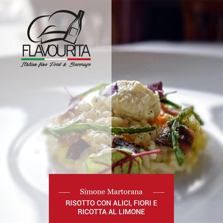 Ricetta e background del risotto con alici dello chef Simone Martorana. Terra e mare ancora una volta si incontrano divinamente in un piatto.