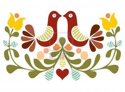 Volkskunst Vogel Vector Royalty Vrije Cliparts, Vectoren, En Stock Illustratie. Image 10480795.