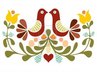 Folk arte Vetor fazer Pássaro Foto - 10480795