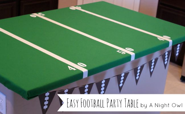 Easy Football Field Party Table by anightowlblog.com Feature 20 DIY Projects using Vinyl