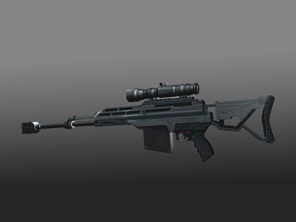 WC Futuristic sniper rifle (fuel of war), (.max) 3ds max software ...