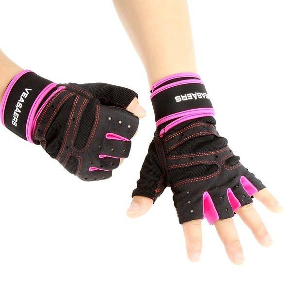 Fashion Men Women Sport Cycling Half Finger Gloves Gym Weight Lifting Wrist Wrap