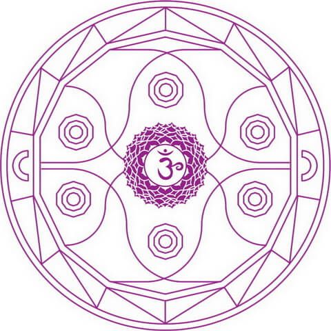 Mandala de Chakra Ajna Dibujo para colorear
