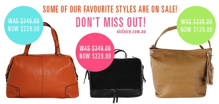 SHOP THESE BEAUTIES! http://www.niclaire.com.au/category/70-handbag-satchels.aspx