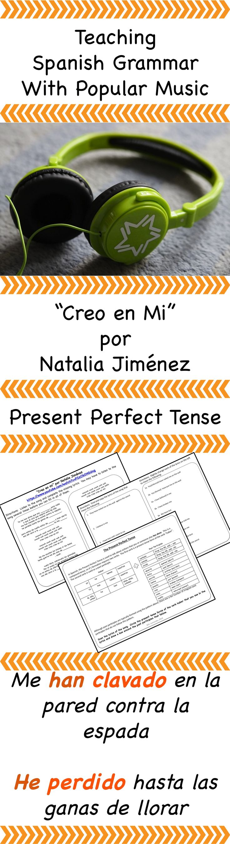 Spanish present perfect tense song and activities