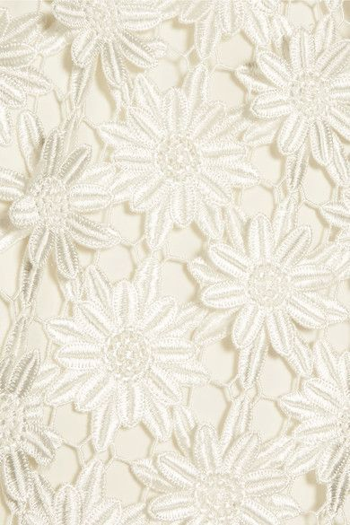 Self-Portrait - Off-the-shoulder Guipure Lace Midi Dress - White - UK14