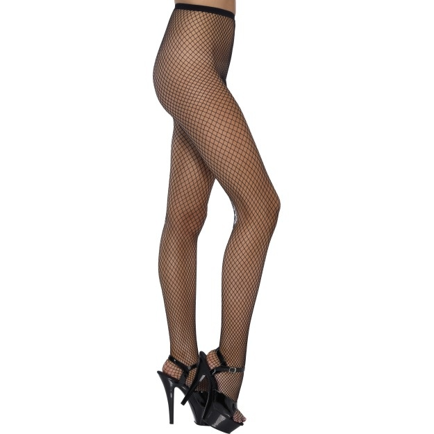 Tights Lattice Net Black, Black