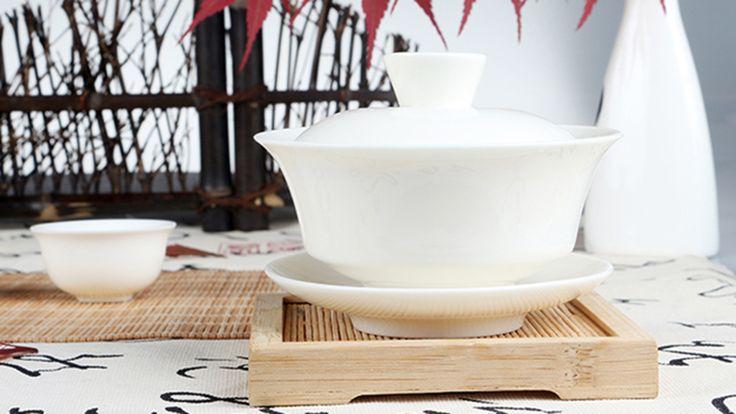 Chinese Traditional Tea Set Gaiwan white Porcelain Celadon Gongfu Tea Set Tureen Cup Bowl 130ml Ceremon Kung Fu Ceramics Gaiwan-in Coffee & Tea Sets from Home & Garden on Aliexpress.com   Alibaba Group