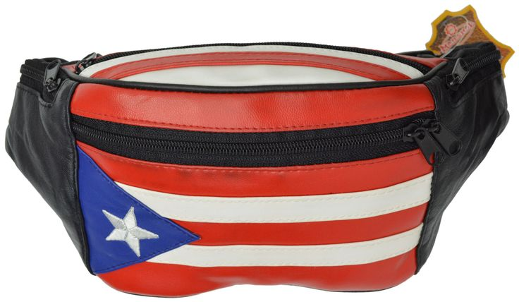 Genuine Leather Puerto Rico Flag Fanny Pack Purse for Men & Women 964 (C)