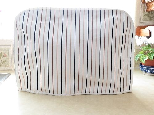 Kenwood Chef Cotton Cover Ivory with black tan stripes.
