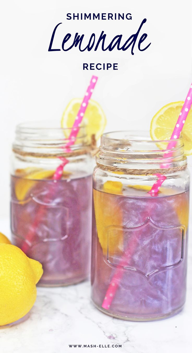 Purple lemonade that shimmers?! I'm in! Get the recipe here!