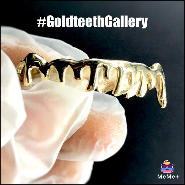Gold Teeth Gallery Custom 10 Karat Yellow Gold Drip Only Here At The Goldteethgallery Gold Teeth Gold Grillz Gold Drip