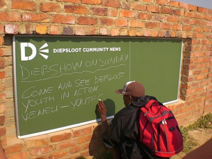 Community chalkboards in Johannesburg