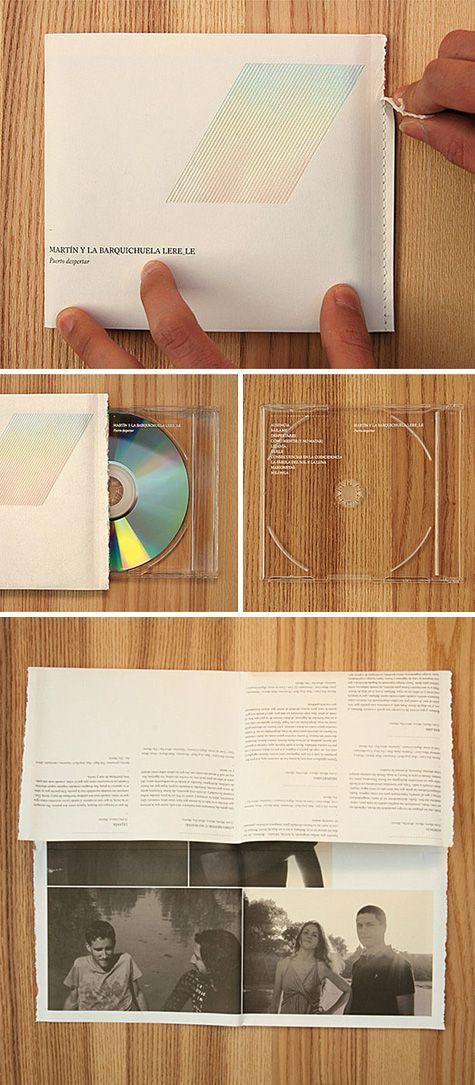 Brilliant CD packaging by Bendita Gloria. #package_design #paper_folding #ingenious