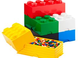I like the mom in the comments who describes how to make an inexpensive lego table with storage underneath.