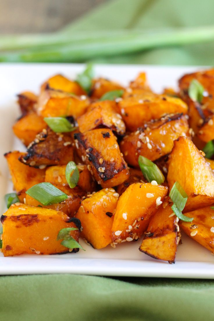 Roasted Butternut Squash with Sesame and Gochujang Recipe