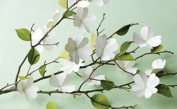 Paper Dogwoods | 5 DIY Paper Projects to Usher in Spring - Yahoo Shine