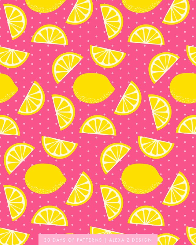 lemon pattern una blusa