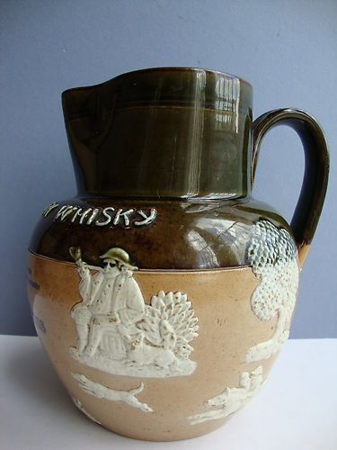 Victorian Royal Doulton Lambeth Dewars Whisky Stoneware Advertising Jug CA 1895 | eBay