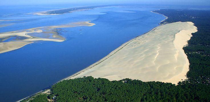 la dune du pila | moment magique au sommet de la dune du pyla de la dune du pyla au banc ...