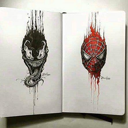 Spiderman by @kerbyrosanes Sketchy Stories. Amazing.  #spiderman #dibujo #superheroe