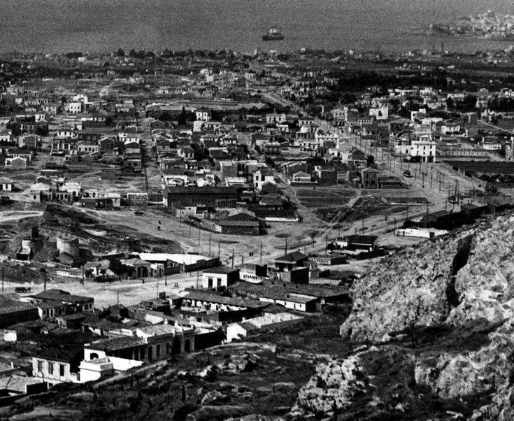 Julius Gross, 1928, Αθήνα, άποψη Καλλιθέας και οδού Θησέως [λεπτομέρεια].