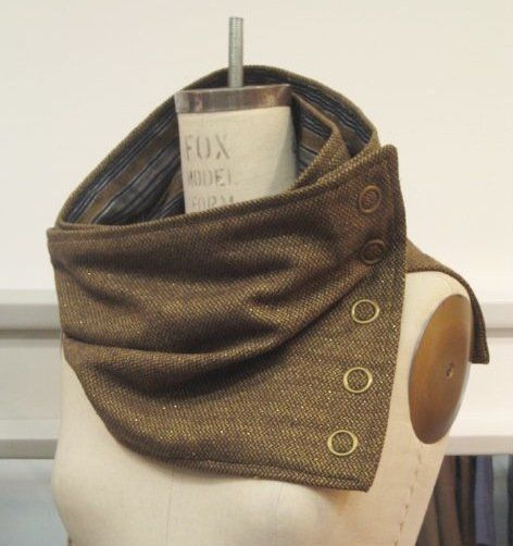 Snap Scarf in Gold Tweed -- oooh I have some tweed and other fun fabrics at home. this must be made!