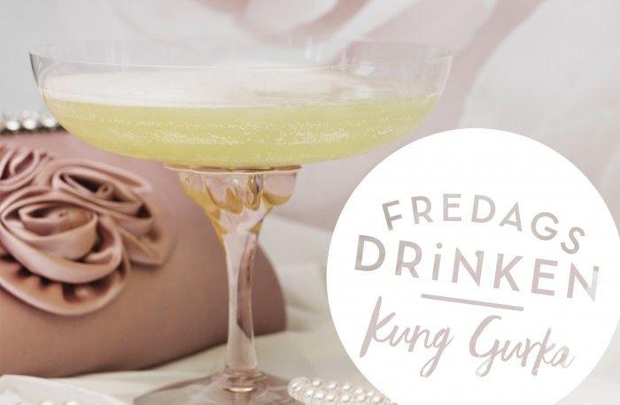 Recept på drinken Kung Gurka med gin och bubbel.