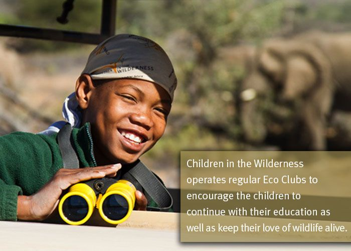 Children in the Wilderness operates regular Eco Clubs to encourage their children to continue with their education as well as keep their love of wildlife alive.