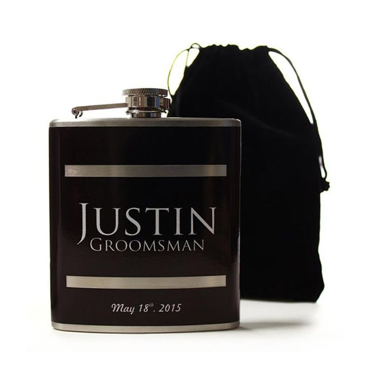 Groomsmen gift ideas for every budget - personalised hip flask